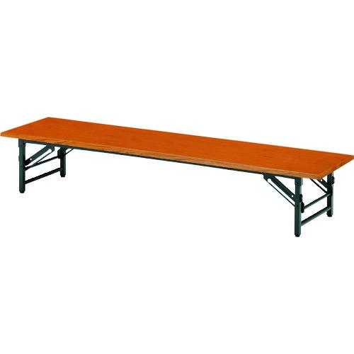 ■TOKIO 折りたたみ座卓テーブル 900×450mm チーク〔品番:TZ-0945〕[TR-1475589 ]【送料別途お見積り】
