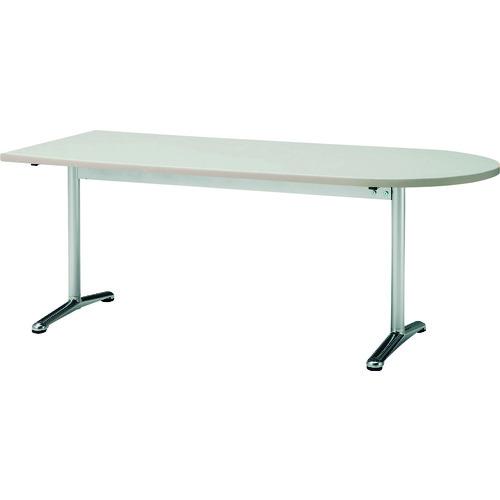 ■TOKIO ミーティングテーブル 半楕円型 1500X750 ニューグレー〔品番:ATT-1575US〕[TR-1475600 ]【送料別途お見積り】