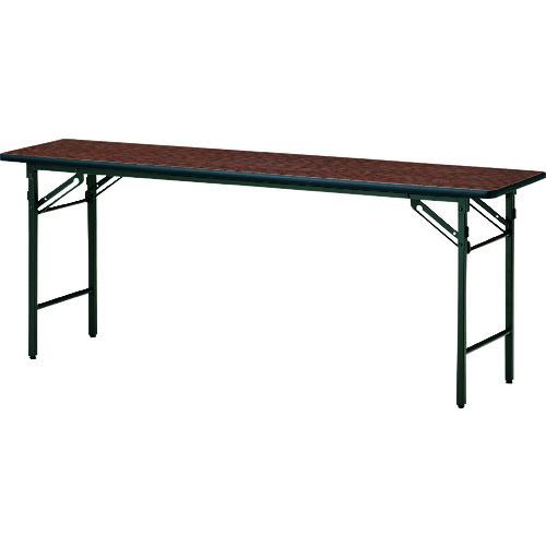 ■TOKIO 折りたたみ会議テーブル 1800×750mm ローズ〔品番:TS-1875N〕[TR-1475638 ]【送料別途お見積り】