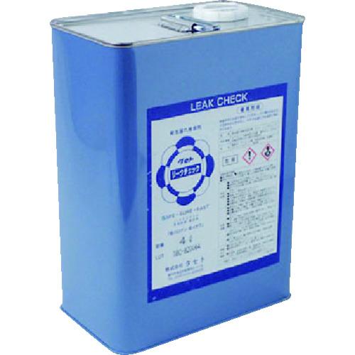 ■タセト 発泡漏れ検査剤 リークチェック 4L 5缶入 〔品番:RIC-4〕[TR-1476192×5]