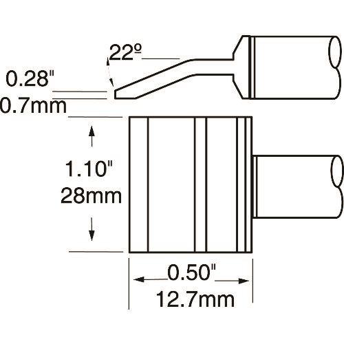 ■メトカル METCAL MXシリーズ 精密ツイーザー チップカートリッジ 〔品番:PTTC-707〕[TR-1477038]【個人宅配送不可】