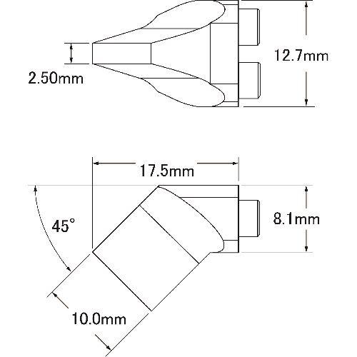 ■メトカル METCAL MXシリーズ デュアル チップカートリッジ 〔品番:SMTC-7CHB100D〕[TR-1477072]【個人宅配送不可】