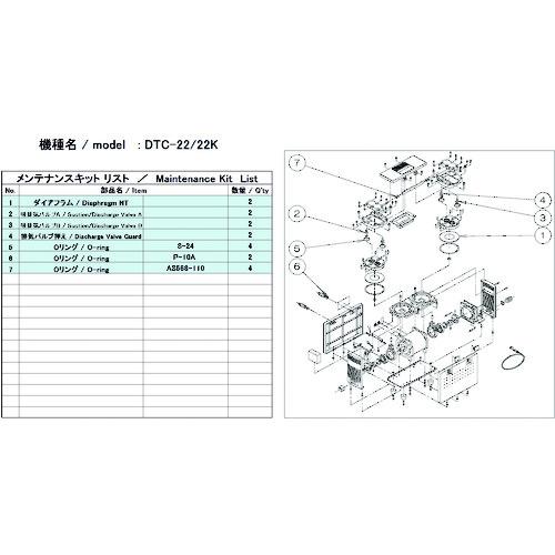 ■ULVAC DTC-22/22K用メンテナンスキット  〔品番:DTC-22/22K〕[TR-1486880]