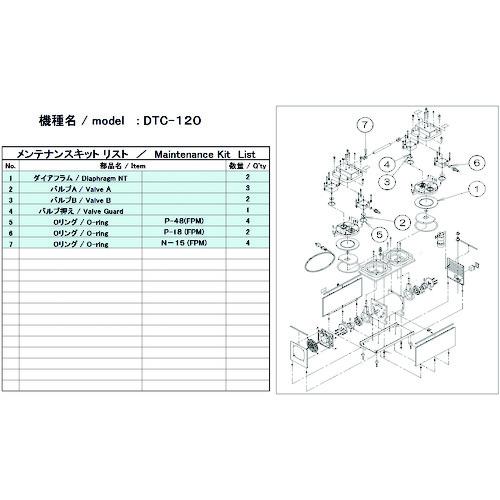 ■ULVAC DTC-120用メンテナンスキット  〔品番:DTC-120〕[TR-1486884]