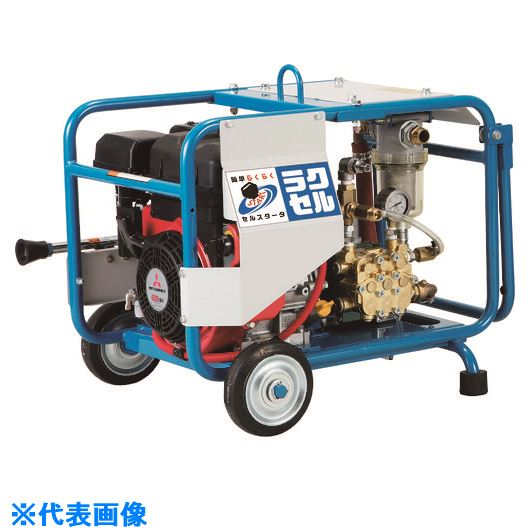 ■ツルミ 高圧洗浄機 エンジンシリーズ(セル付きタイプ)〔品番:HPJ-6190ES〕[TR-1492859]【個人宅配送不可】
