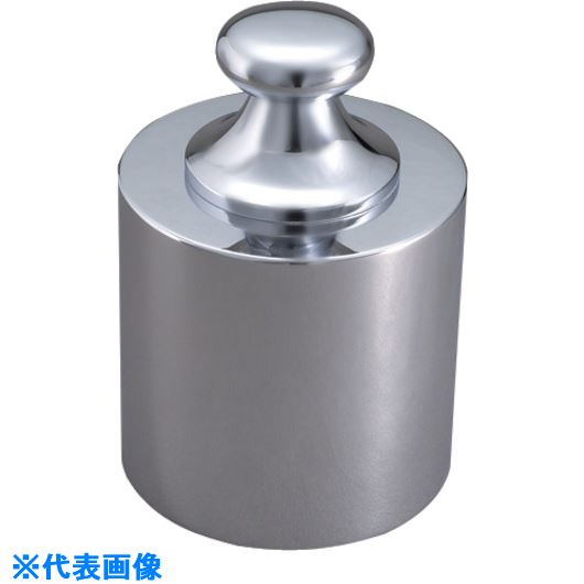 ■VIBRA 基準分銅型円筒分銅(黄銅クロムメッキ) 5KG F2級〔品番:F2CBB-5K〕[TR-1525048]【個人宅配送不可】