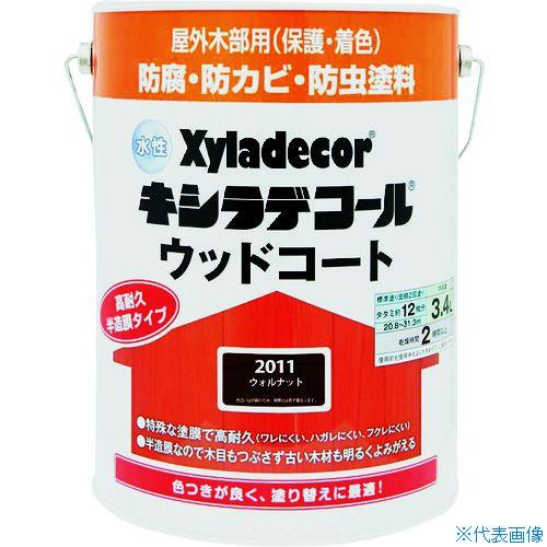 ■KANSAI 水性XDウッドコートS ウォルナット3.4L《4缶入》〔品番:00097670350000〕[TR-1527282]