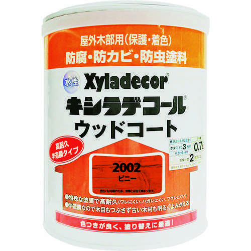 ■KANSAI 水性XDウッドコートS ピニー 0.7L《6缶入》〔品番:00097670010000〕[TR-1528830]