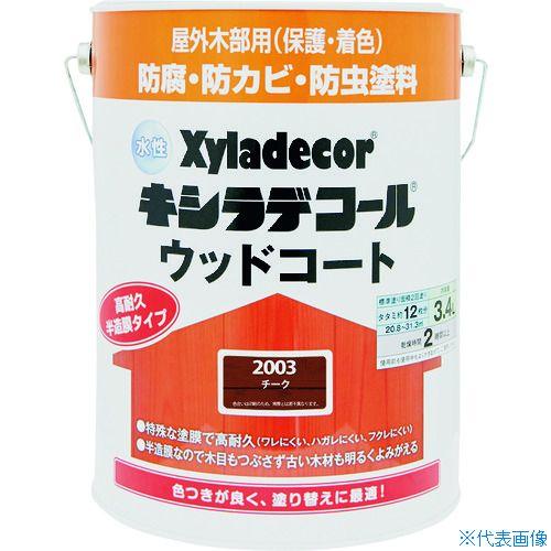■KANSAI 水性XDウッドコートS チーク 3.4L《4缶入》〔品番:00097670070000〕[TR-1528831]