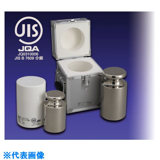 ■VIBRA JISマーク付OIML型円筒分銅(非磁性ステンレス) 5G M1級  〔品番:M1CSO-5GJ〕[TR-1529826]