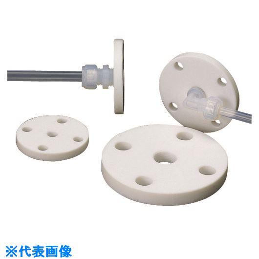 ■フロンケミカル  フッ素樹脂(PTFE)フランジ 5K×10A×RC1/4 5枚入 〔品番:NR1405-025〕[TR-1531349×5]