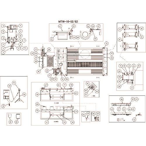 ■ツルミ 角フランジユニット  〔品番:801-16701051-9〕[TR-1531607]