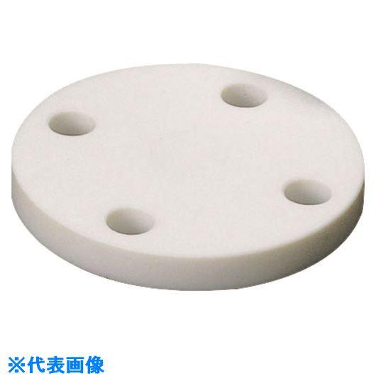 ■フロンケミカル フッ素樹脂(PTFE)ブラインドフランジJIS-10K 15A《5枚入》〔品番:NR1414-004〕[TR-1532883×5]