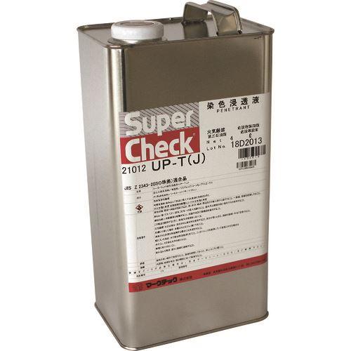 ■MARKTEC スーパーチェック 浸透液 UP-T(J) 4L缶  〔品番:C002-0021012〕[TR-1533437]