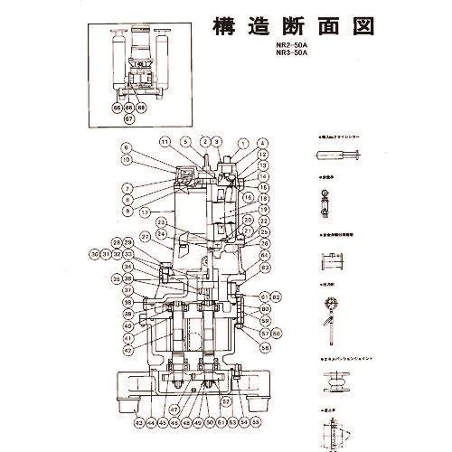 ■ツルミ KSE-NR型吸込サイレンサ〔品番:Y01-YKSE5NR〕[TR-1535860]
