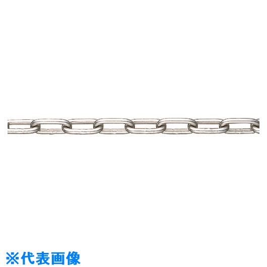■水本 SUS304ステンレスチェーン6-B 長さ・リンク数指定カット 4.1~5M  〔品番:304-6-B-5C〕[TR-1536730]