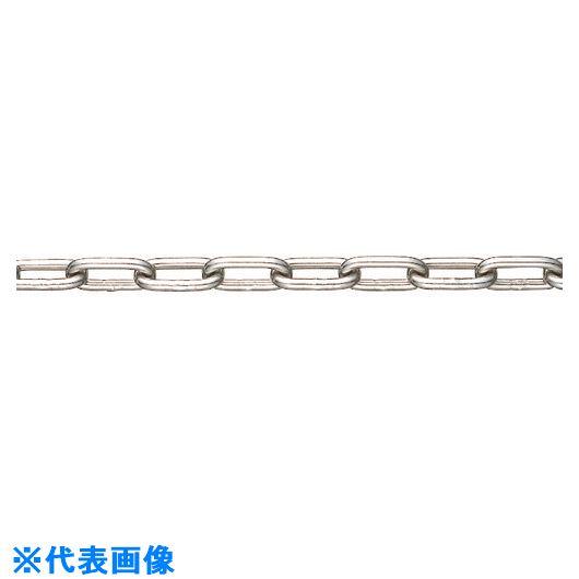 ■水本 SUS304ステンレスチェーン10-S 長さ・リンク数指定カット 5.1~6M  〔品番:304-10-S-6C〕[TR-1540828]