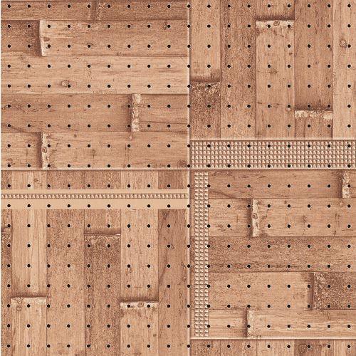 ■光 木目調パンチングボード ブロックウッド 5枚入 〔品番:PGIBD56-1〕[TR-1542218×5]
