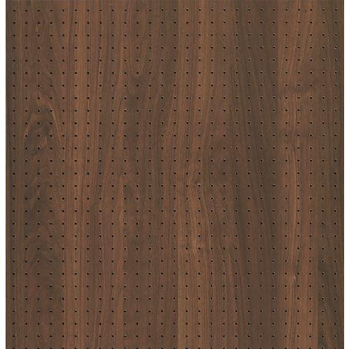 ■光 木調パンチングボードウッディ ダークブラウン 約910×600mm《5枚入》〔品番:PGMBD69-4〕[TR-1543800×5]