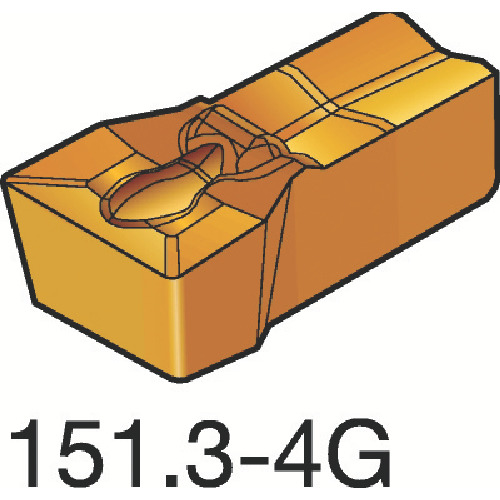 ■サンドビック T-MAX Q-カット 突切り・溝入れチップ H13A H13A 10個入 〔品番:N151.3-200-20-4G〕[TR-1548531×10]
