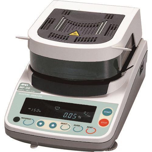 ■A&D 加熱乾燥式水分計 MF50 一般校正付〔品番:MF50-00A00〕[TR-1575352]【個人宅配送不可】