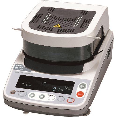 ■A&D 加熱乾燥式水分計 ML50 JCSS校正付〔品番:ML50-00J00〕[TR-1575396]【個人宅配送不可】