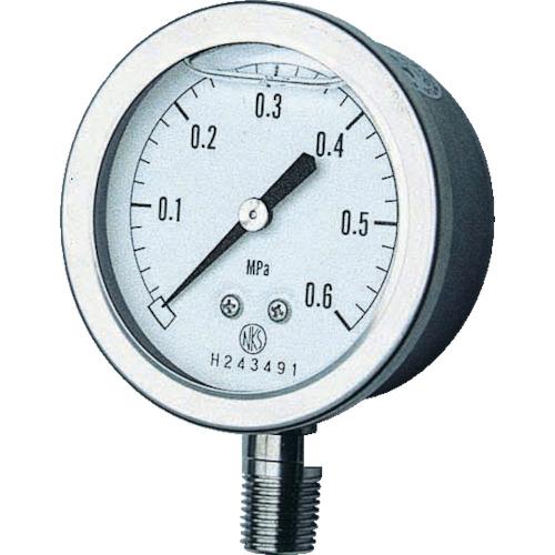 ■長野 グリセン入圧力計 A枠立型 Φ60 最小目盛0.100   〔品番:GV50-173-2.5MP〕[TR-1575970]