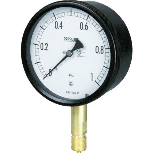 ■長野 密閉形圧力計 A枠立型 Φ100 最小目盛0.005〔品番:BE10-131-0.16MP〕[TR-1576089]