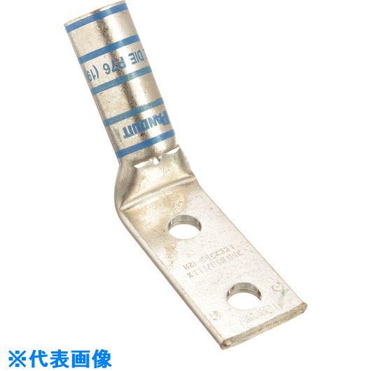 ■パンドウイット 銅製圧縮端子 2穴 電線サイズ AWG6 取付穴サイズ 104MM 取付穴間隔 254MM バレル角度 45度 LCCX6-38DH-L  〔品番:LCCX6-38DH-L〕[TR-1578922]