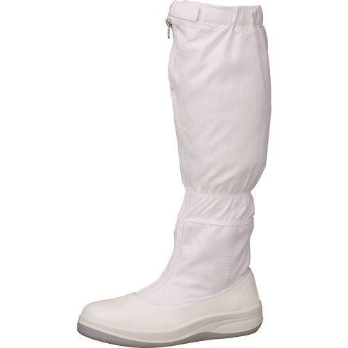 ■ミドリ安全 静電安全靴 SCR1200 フード ホワイト 24.0cm〔品番:SCR1200-H-24.0〕[TR-1579831]