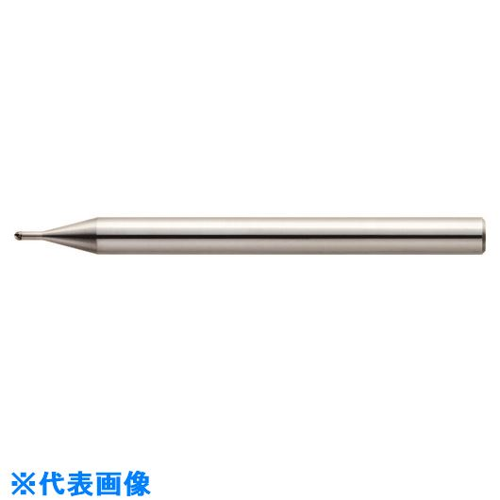 ■ユニオンツール 2枚刃ハイグレードロングネックボールエンドミル ボール半径R0.2×有効長0.75×刃長0.32×首径0.38  〔品番:CBN-LBF2004-0075〕[TR-1585417]