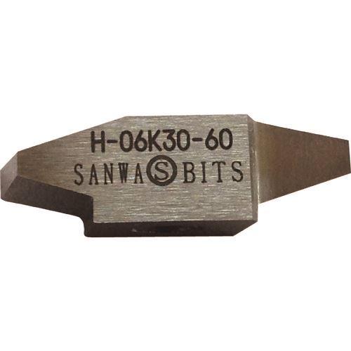 ■三和 台形30°ネジ切チップピッチ6.0 10個入 〔品番:H-06K30-6.0〕[TR-1586899×10]