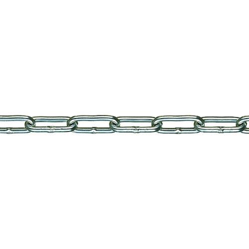 ■水本 チューブ保護アルミカラーチェーン シルバー 3.5HALC-S 29.1~30M  〔品番:3.5HALC-S-30C〕[TR-1587199]