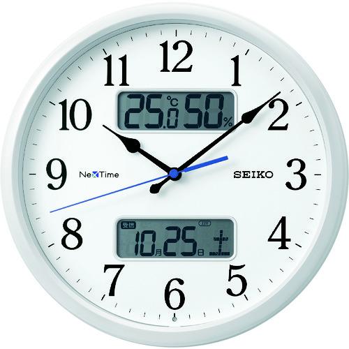 """■SEIKO 電波掛時計 """"セイコーネクスタイム ZS251W"""" (ハイブリッド電波時計)  〔品番:ZS251W〕[TR-1589195]"""