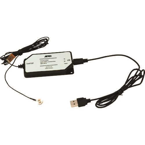 ■A&D ボタン型USB対応デジタルロードセル LCCU21N500  〔品番:LCCU21N500〕[TR-1594393]【個人宅配送不可】