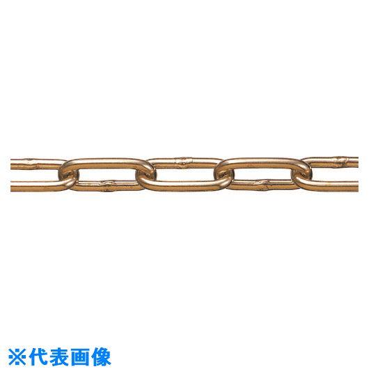 ■水本 黄銅チェーン BR-6 長さ・リンク数指定カット 13.1~14M  〔品番:BR-6-14C〕[TR-1598994]【個人宅配送不可】