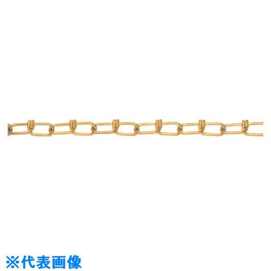 ■水本 黄銅ビクターチェーン 2.6-VBR 17m〔品番:2.6-VBR-17C〕[TR-1599669]