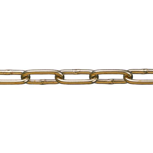 ■水本 黄銅チェーン BR-7 長さ・リンク数指定カット 29.1~30m未満  〔品番:BR-7-30C〕[TR-1600082]【大型・重量物・個人宅配送不可】