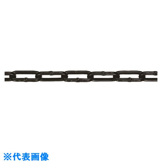 ■水本 アルミカラーチェーン ブラック AL-4BK 長さ・リンク数指定カット 13.1~14M  〔品番:AL-4-14C-BK〕[TR-1600960]