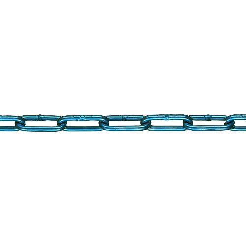 ■水本 アルミカラーチェーン ブルー AL-7B 15M〔品番:AL-7-15C-B〕[TR-1601937]