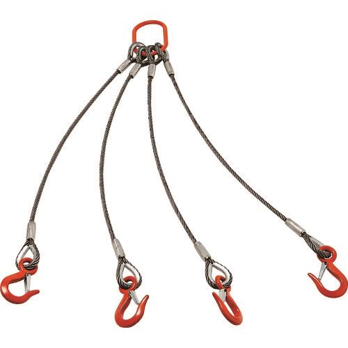 ■TRUSCO 4本吊りアルミロックスリング フック付き 9MMX1.5M  〔品番:TWEL-4P-9S1.5〕[TR-1606402]