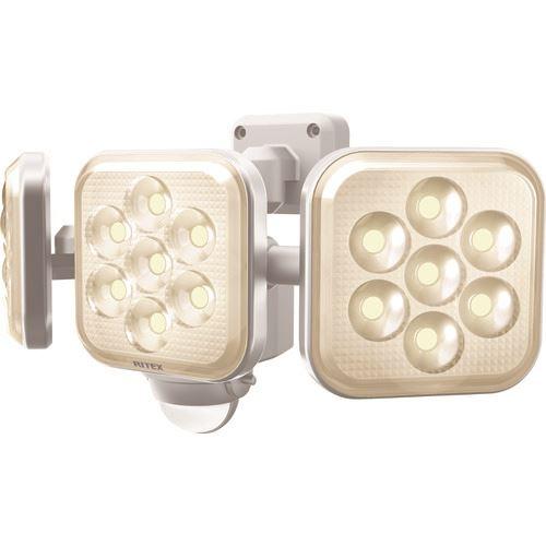 ■ライテックス 8W 3灯フリーアーム式 LEDセンサーライト電球色  〔品番:LED-AC3025〕[TR-1609994]