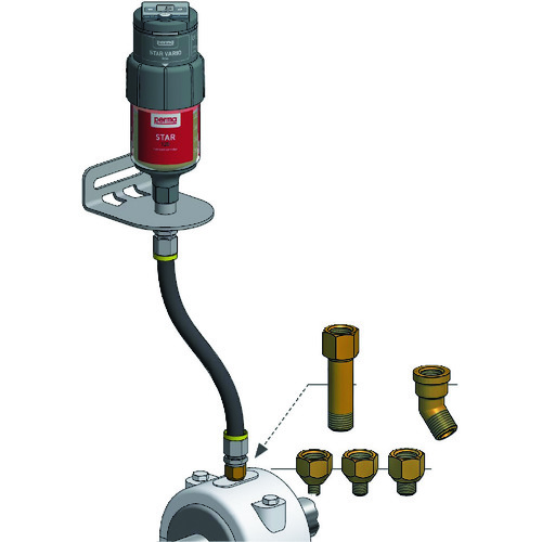■PERMA パーマスターバリオモータードライブ式給油器 SF01標準グリス120CC付き  〔品番:PS-SF01-120〕[TR-1610889]