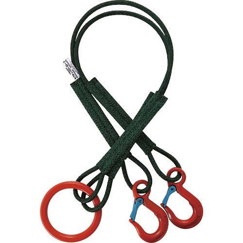 ■TRUSCO 2本吊セフティパワーロープ 径12MM 長さ1.5M  〔品番:SP2-1215-800〕直送元[TR-1612263]【個人宅配送不可】