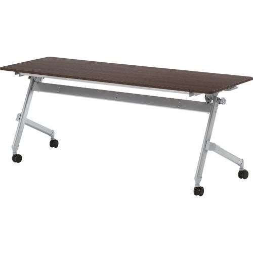 ■TRUSCO 折りたたみ会議テーブル 1800X600 天板ダークウッド  〔品番:TNA-1860-DW〕[TR-1613071]【大型・重量物・送料別途お見積り】