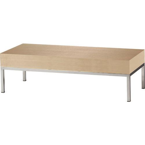 ■TRUSCO 木製テーブル ステンレス脚 天板ナチュラル  〔品番:MAV1210-NA〕[TR-1613161]【大型・重量物・個人宅配送不可】