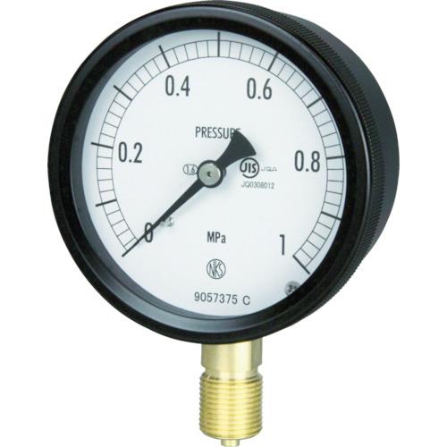 ■長野 密閉形圧力計 A枠立型 Φ75 最小目盛0.100 〔品番:BC10-131-6.0MP〕[TR-1614363]