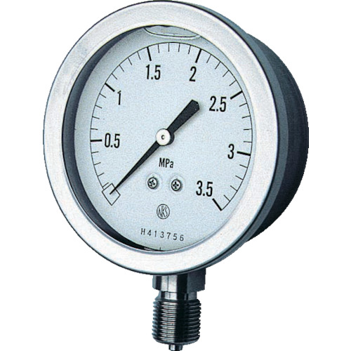 ■長野 グリセン入圧力計 A枠立型 Φ75 最小目盛0.100   〔品番:GV51-133-2.0MP〕[TR-1614509]
