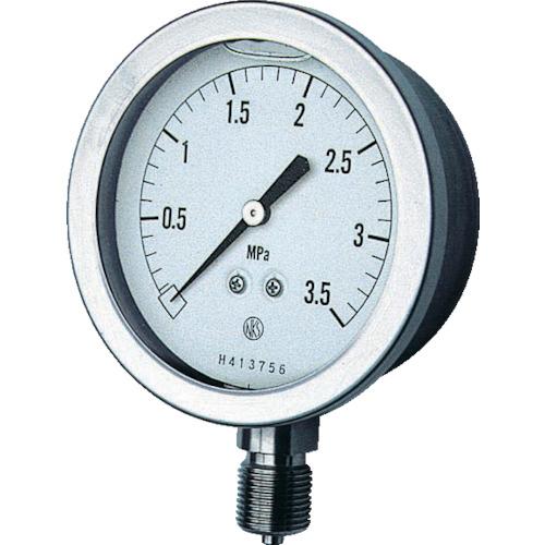 ■長野 グリセン入圧力計 A枠立型 Φ75 最小目盛0.100   〔品番:GV51-133-3.5MP〕[TR-1614525]