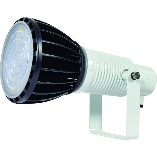 ■日動 エコビックLED投光器100W 常設用 スポット アース付 電線2M 本体白、電球黒〔品番:ATL-E100J-SW-50K〕[TR-1620472]